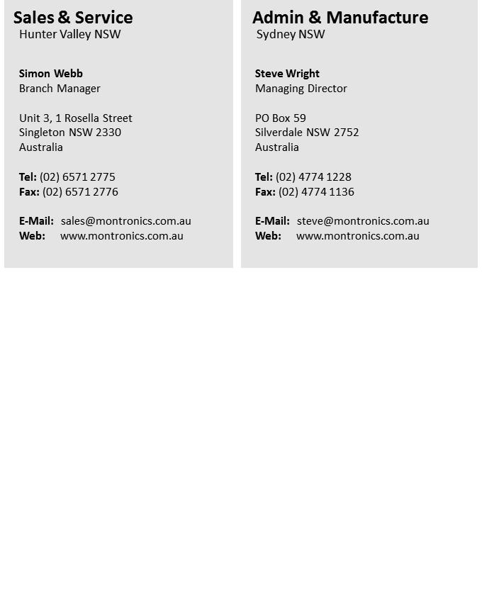 Contact Us - Montronics Pty Ltd